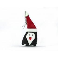 Pendente di Natale in Vetro di Murano - Mod. Pinguino - 110x50 mm