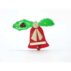 Murano Glass Christmas Bell Ornament- Mod. Campana - 95x75 mm