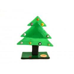 Pendente di Natale in Vetro di Murano - Mod. Albero - 80x80 mm