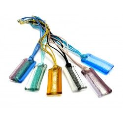 70% off - Murano Glass Pendant, Mod. Riviera, 40x20 mm (Available in assorted Colours)