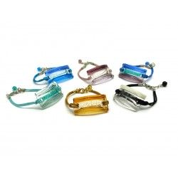 70% off - Murano Glass Bracelet, Mod. Riviera, 40x20 mm (Available in assorted Colours)