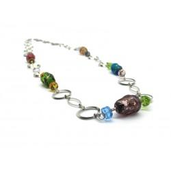70% di Sconto - Collana in perle di Murano, Mod. Lucy (80 cm)
