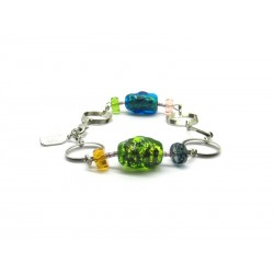 70% off - Murano Glass Bracelet, Mod. Lucy, 21 cm (Available in assorted Colours)