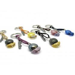 Portachiavi in perle di Murano, a forma di Barca, 12 cm (Colori assortiti)