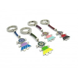 New Mod. Murano Glass, Charms Bag or Keychain, (Baby) made with Murrina (Assorted Colors)