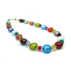 Murano Glass Necklace - Mod. Clara, 45 cm (Available in 5 Colours)