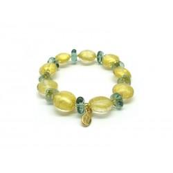 Murano Glass Bracelet - Mod. Clara, 21 cm (Available in 4 Colours)