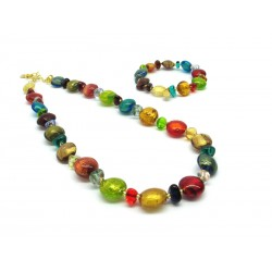 Murano Glass Set Mod. Clara - 45 cm (Available in 4 assorted Colours)