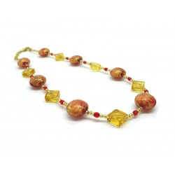 70% off - Murano Glass Necklace - Mod. Nadia, 45 cm - Long (Available in 4 Colours)