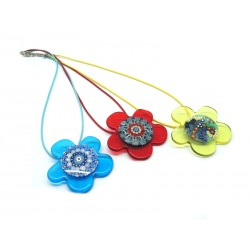 Murano Glass Necklace - Mod. Daisy, 45 cm (Available in Ass. Colours)