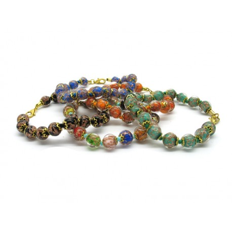Murano Glass Bracelet - Mod. Sommerso, 21 cm (Available in 10 Colours)