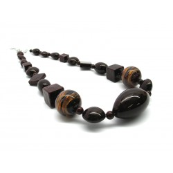 Murano Glass Necklace - Mod. Annamaria, 50 cm (Available in 2 Colours)