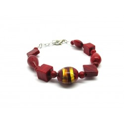 Murano Glass Bracelet - Mod. Annamaria, 21 cm (Available in 2 Colours)