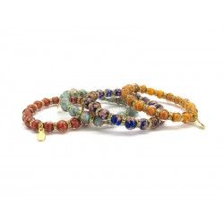 Murano Glass Bracelet - Mod. Fortuna, 21 cm (Available in 10 Colours)