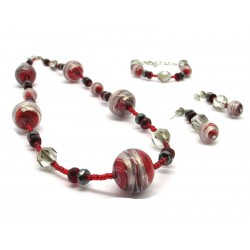 Murano Glass Set Mod. Annalisa - 65 cm (Available in 3 assorted Colours)