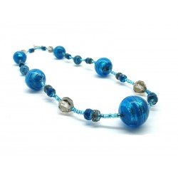 Murano Glass Necklace - Mod. Annalisa, 65 cm (Available in 3 Colours)