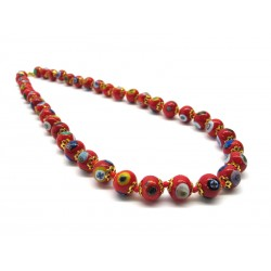 Murano Glass Necklace - Mod. Mosaico, 60 cm (Available in 5 shades of color)