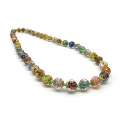 Murano Glass Necklace - Mod. Sommerso, 60 cm (Available in 5 shades of color)