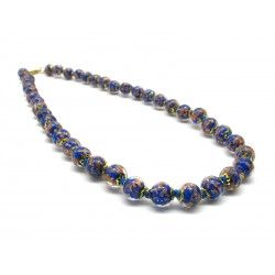 Murano Glass Necklace - Mod. Sommerso, 43 cm (Available in 5 shades of color)