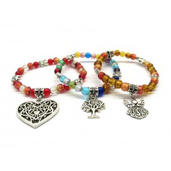 Murano Glass Bracelet - Mod. Kiddy, 21 cm (Available in 8 Colours)