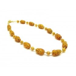 70% off - Murano Glass Necklace - Mod. Altinia, 43 cm (Available in 3 Colours)