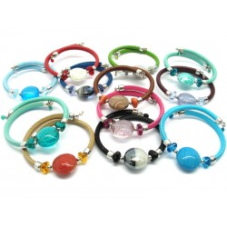 Murano Glass Bracelet - Mod. Diana, 21 cm (Available in 12 assorted Colours)