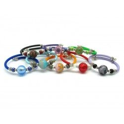Murano Glass Bracelet - Mod. Betty, 21 cm (Available in 10 assorted Colours)