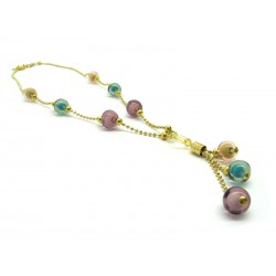 Murano Glass Necklace- Mod. Beatrice, 50 cm (Available in 2 Colours)