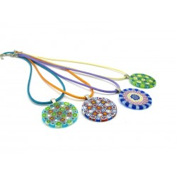 Pendant in Murrina - Mod. Patrizia - Diam 32 mm (Available in 10 assorted Colours)