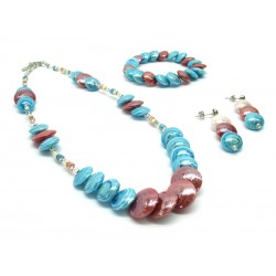 Murano Glass Set Mod. Monica- 50 cm (Available in 4 Colours)