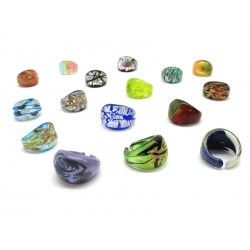 Ring in Murano Glass - Mod. Laguna (Available in 20 assorted Colours)