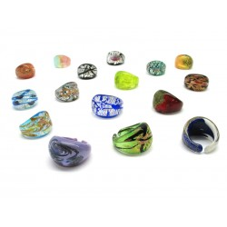 Ring in Murano Glass - Mod. Laguna (Assorted Colours)