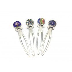 70% off - Silver Bookmark with Millefiori Murrina (Available in assorted Colours)