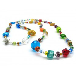 Murano Glass Necklace - Mod. Giuditta, short 45 cm (Available in 3 Colours)