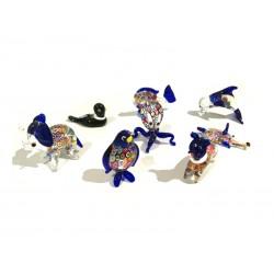 Piccoli Animali in vetro di Murano, 60x35 mm (Colori assortiti)