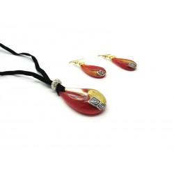 70% di Sconto - Parure in vetro di Murano Mod. Veve Style 50 cm (Disponibile in 4 Colori)ri)