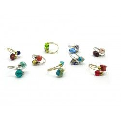 Ring in Murano Glass - Mod. Fantasia (Available in 10 assorted Colours)