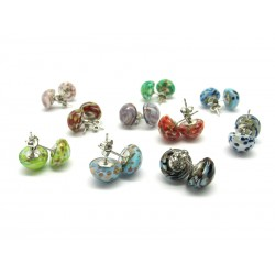 Murano Glass Earrings - Mod. Brio , 12 mm (Available in assorted Colours)