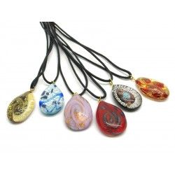 Pendant in Murano Glass - Mod. Sibilla - 35x20 mm (Available in 8 assorted Colours)