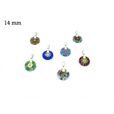 Murrina Pendant Mod. Fortuny, 14 mm in diameter (Assorted Colours)