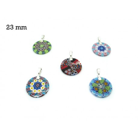 Murrina Pendant Mod. Fortuny, 23 mm in diameter (Available in 15 assorted Colours)