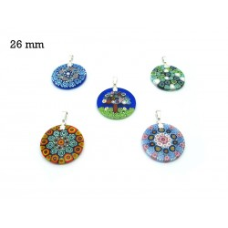 Murrina Pendant Mod. Fortuny, 26 mm in diameter (Available in 15 assorted Colours)