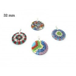 Murrina Pendant Mod. Fortuny, 32 mm in diameter (Available in 15 assorted Colours)