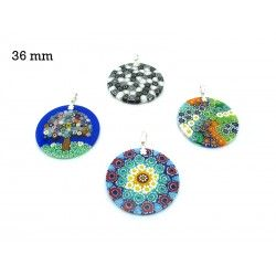 Murrina Pendant Mod. Fortuny, 36 mm in diameter (Available in 15 assorted Colours)