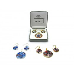Murrina Millefiori Set, in Sterling Silver, 23 mm in diameter (Available in 15 assorted Colours)