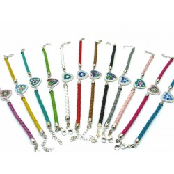Bracelet in Murano Glass and Silver - Mod. Nelly - 18 mm (Available in 8 assorted Colours)