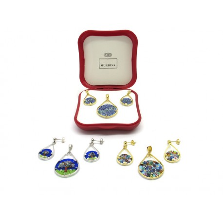 Murrina Millefiori Set, in Sterling Silver, Mod, Rugiada (Available in 15 assorted Colours)