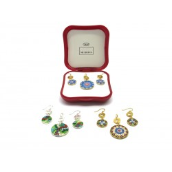 Murrina Millefiori Set, in Sterling Silver, Mod. Tiffany (Available in 15 assorted Colours)