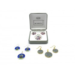 Murrina Millefiori Set, in Sterling Silver, 18 mm in diameter (Available in 15 assorted Colours)