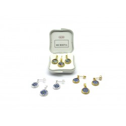Murrina Millefiori Set, in Sterling Silver, 10 mm in diameter (Available in 15 assorted Colours)